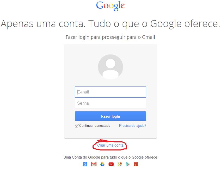 aqui é o primeiro passo para você criar conta gmail