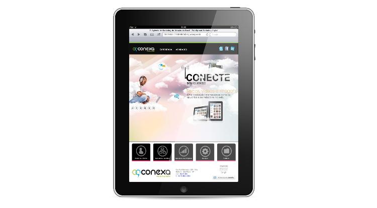 site responsivo em um tablet